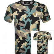 True Religion Camouflage Logo T Shirt Black